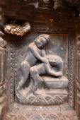Erotic carvings on Hindu temples in Kathmandu, Nepal — Stock Photo
