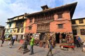 Historical buildings of Swayambunath before the earthquake that — Stock Photo