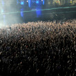 толпа на концерте — Стоковое фото #80349132