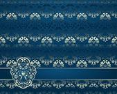 Abstrakt mit floral ornament — Stockvektor