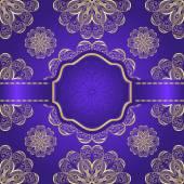Golden ornamental background — Stock Vector