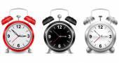 Colección de relojes de alarma — Vector de stock
