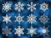 Snowflake collection  — Stock Vector