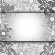 Abstract floral frame — Stock Vector #61478725