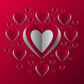 Hjärtat bakgrund — Stockvektor