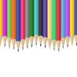 Colorful pencils border — Stock Vector #70707787