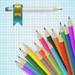 Colored pencils — Stock Vector #80811096