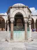 Blue Mosque ablution fountain — Stock Photo