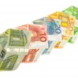 Houses of euro banknotes — Stock Photo #58152899