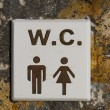 WC sign — Stock Photo #58159839