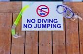 No diving No jumping — Stock Photo