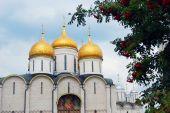 Dormition church. Moscow Kremlin. UNESCO World Heritage Site. — Stock fotografie
