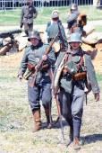 Mincer Nivelle battle reenactment — Foto Stock