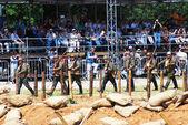 First World War battle reenactment — Stock Photo