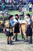 Men in Scottish kilts. — Stock Photo