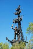 Monumento a pietro il grande a mosca. — Foto Stock
