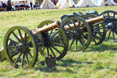 Old cannons on the battle field. — Stock Photo
