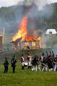 Burning house. — Stock Photo