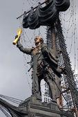 Anıtın Moskova'da büyük peter. — Stok fotoğraf