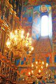 Interieur van de kerk van elia de profeet in jaroslavl (russi — Stockfoto