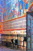Wnętrze kościoła eliasza proroka w jarosławiu (russi — Zdjęcie stockowe