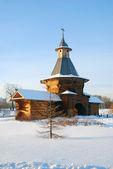 View of Kolomenskoye park in winter. — Stock Photo