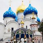 Dormition church in Trinity Sergius Lavra — Stock Photo #55862487