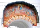 Old religious painting in Trinity Sergius Lavra — Stockfoto