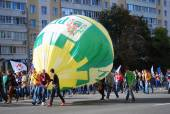Students parade in Moscow — Stock Photo