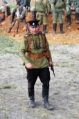 Portrait of a soldier-reenactor. — 图库照片