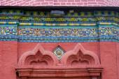 Colorful tails on the Epiphany church facade. Yaroslavl, Russia. — Zdjęcie stockowe