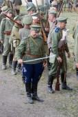 Historical reenactment of Osovets battle — Stock Photo