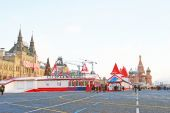 Red Square in Moscow in winter — Foto de Stock