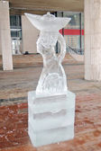 Ice figure shown in Muzeon sculpture park in Moscow. — Stock Photo