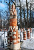 Old pillar in Tsaritsyno park in Moscow — 图库照片