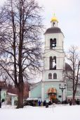 Old church in Tsaritsyno park in Moscow — Stock Photo