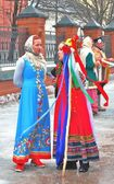 Festa di Carnevale a Mosca — Foto Stock