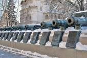 Old cannons in Moscow Kremlin. UNESCO World Heritage Site. — Stock Photo