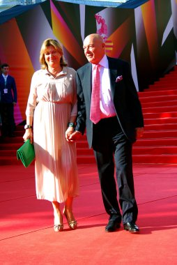 Vladimir Pozner and his wife at Moscow Film Festival