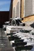 Old cannons shown in Moscow Kremlin.  — Stock Photo