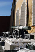 Old cannons shown in Moscow Kremlin.  — Stockfoto