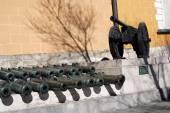 Vieux canons dans le kremlin de Moscou — Photo