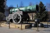 Tsar Cannon (King Cannon) in Moscow Kremlin in winter. — Stockfoto