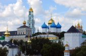 Trinity Sergius Lavra, Sergiev Posad, Russia. UNESCO World Herit — Stock Photo