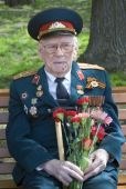 War veteran man portrait. — Stock Photo