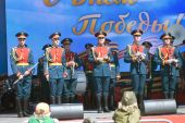 Victory Day celebration in Moscow. — Stock Photo
