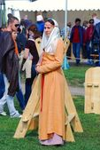 Woman in historical costume — Stock Photo