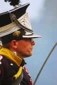 Unknown soldier at Borodino historical reenactment — Stock Photo