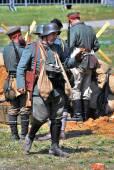 Mincer Nivelle battle reenactment — Stock Photo
