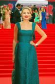 Actress, fillm director Renata Litvinova at Moscow Film Festival — Stock Photo